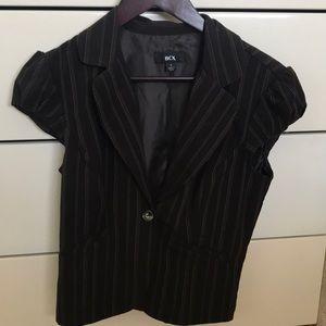 Brown pin striped blazer